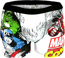 Mens Marvel Comics Boxers Trunks Underwear Shorts Gift Novelty Cartoon Cotton