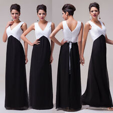 2015 Long White & Black Mother Of The Bride/ Groom Dresses Evening Wedding Gowns