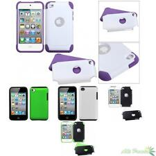 Solid Fusion Silicone/Hard Shell Protector Case Cover For APPLE iPod Touch 4