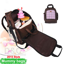 2016 Backpack Mummy Bag Baby Nappy Diaper Bag Light Changing bags + Change Pad