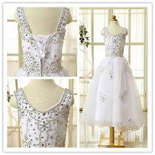 New Flower Girl Dress Crystal Wedding Bridesmaid Dress Party Dress Princess Gown