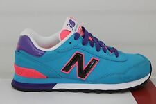 Women New Balance Classics 515 Trqus/Prpl/Pnk WL515PTG Size 7 New With Blemishes