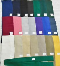 """COLLARS CUFFS 3 per 100% cotton double knit finished edges approx 16""""x 4"""" solids"""