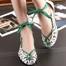 NEW Women Girl's Sandals Comfort Flats Ankle Lace up Shoes Casual Summer Beach