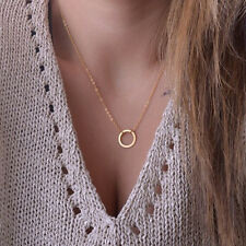 Posh Circle Pendant Necklace Simple Style Chain Link Necklace Jewelry