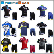2016 Sport Team Bike Cycling Bike Clothing Short Sleeve Jersey Shorts Kit Trek
