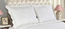 All For You-2 PC quilted pillow shams- king size-embroidery