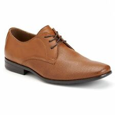$99 NIB Men's Rock & Republic Perforated Dress Oxford Maxim  Lace Up Shoes Tan