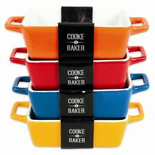 Mini Ceramic Baking Roasting Bakeware Tray Oven To Tablet Serving Casserole Dish