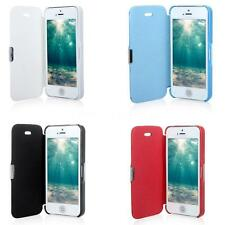 Elegant Magnetic Leather Flip Hard Full Shell Cover for iPhone 5 5S 4Colors