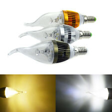 Vintage Dimmable E12 E27 E14 6W LED Candle Light Chandelier Bulb Flame Lamp Tail