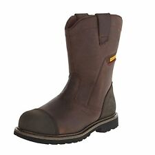 Caterpillar Men's Highland Steel Toe Work Boots, Dark Brown