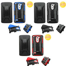 Durable Armor Hybrid Holster Combo Stand Protector Cover Phone Case LG G3 Stylus
