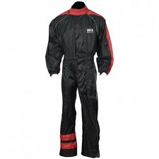 Rain Suit 1 Piece Suit Motorcycle Motorbike Waterproof  Red/Black,