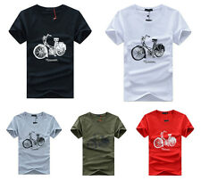 New Mens Fashion Short Sleeve Casual T-shirt Summer Top Cotton Blend 5Colors