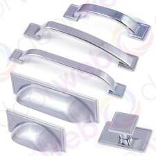 Chrome Kitchen Cupboard Door Handles Top Quality Drawer Knob Pull D Cup Handle