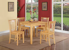"""3 PC or 5 PC 36"""" SQUARE DINETTE SMALL KITCHEN DINING TABLE SET IN OAK FINISH"""