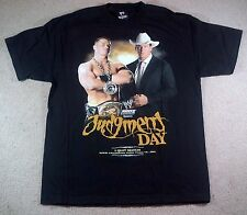 WWF WWE JUDGMENT DAY 2005 OFFICIAL EVENT T-SHIRT BLACK SIZE L JOHN CENA