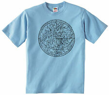 VINTAGE ASTRONOMY CHART T-SHIRT 100% COTTON ASTROLOGY COSMOS STAR SKY T SHIRT