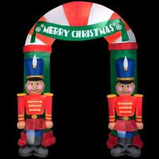 NEW 8 ft Tall Nutcracker Merry Christmas Archway Toy Soldier Airblown Inflatable