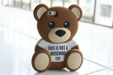 Girl Kids  Cute Skin Cover Soft Teddy Bear Case for iPhone 5 5S 6 6 Plus