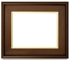 "CLASSIC MODERN STYLE PHOTO PICTURE PAINT FRAME PLEIN AIR WOOD GOLD BROWN 3"" WIDE"