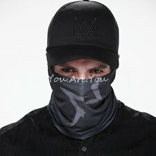 Watch Dogs Aiden Pearce Face MASK + CAP Hat Set Costume Video Game Cosplay Cos