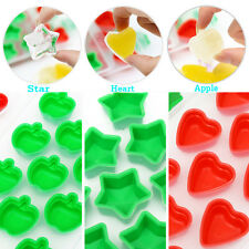 New Silicone Heart Star Shape Apple Ice Cream Freeze Cube Mold Maker Tray Party