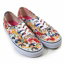 Vans Women's Disney Authentic Canvas Lace Up Trainer Multi Princess