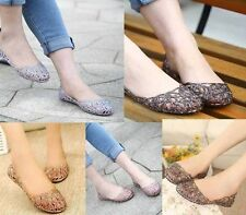 NEW WOMENS LADIES FLAT BALLERINA BALLET CASUAL SOFT GLITTER JELLY PUMPS SHOES