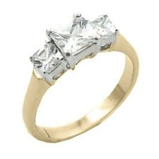 14K GOLD EP 3.0CT DIAMOND SIMULATED ENGAGEMENT RING sizes 5-10 u choose the size