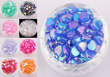 Lots 200 pcs AB Color Heart Acrylic Spacer Beads Jewelry Making Findings 8x4mm