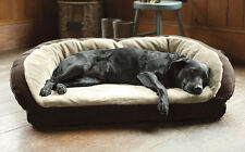 Faux-Fur Deep Dish Dog Bed with Memory Foam SI2C6S