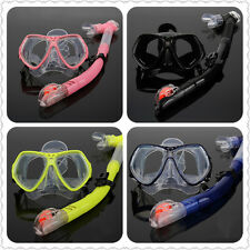 Prescription RX Optical Corrective Lens Dive Mask Dive Goggles Scuba Snorkel Set