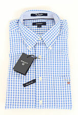 Gant Hemd Shirt The Gingham kariert  REGULAR FIT Blau Blue NEU