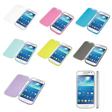 Clear Crystal Soft TPU Silicone Flip Case Cover for Samsung Galaxy S4 / S4 Mini