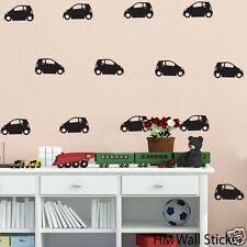 24 Smart Cars Removable wall stickers for Nursery/ kids Vinyl decal