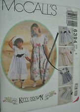 McCalls Sewing Pattern # 6394 Girl's Dress Pantaloons and Hatband Choose Size