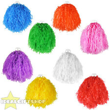 "POM POMS PAIR OF LARGE 10"" COLOURED CHEERLEADER SHAKERS USA SPORTS DANCE SCHOOL"