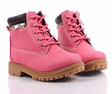 4 Color Lace Up Preschool Girls Booties Military Kids Ankle Boots Youth Shoes