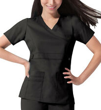 Scrub Dickies Gen Flex Youtility Mock Wrap Top 817355 Black   FREE SHIPPING