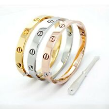 Luxury 3 Color Stainless Steel Men Women Bracelet Bangle Cuff Screwdriver Gift