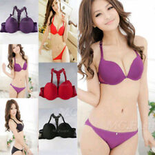 New Fashion Womens Front Closure Lace Racer Back Racerback Push Up Bra 32-36B