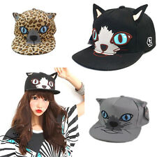 New Style Baseball Cap Hip-Hop Hat Adjustable Snapback Cap Cat Face Cap Unisex