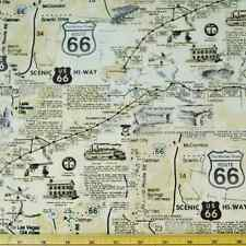 USA Amérique Route 66 SCENIC HI-WAY road trip 100% coton toile