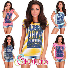 Casual Sequined T-Shirt Every Day Short Sleeve Top Party Tunic Size 8-12 FB250