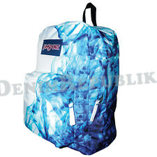 MULTI BLUE DRIP DYE ZQ1 JANSPORT T501 SUPERBREAK BACKPACK Student School Bag New