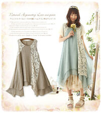 Loose Style  Kawaii Girls  Lolita Vintage Exquisite embroidery Sleeveless Dress