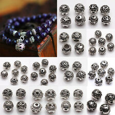 10/20Pcs Silver Plated Loose Spacer Beads Charms Jewelry Craft Making Findings
