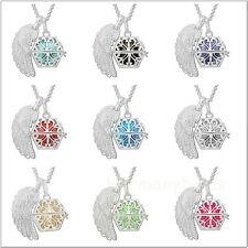 Angel wing pendant with chain necklace silver pendant women jewelry harmony ball